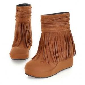 Frosted fringed boots BBBHBB