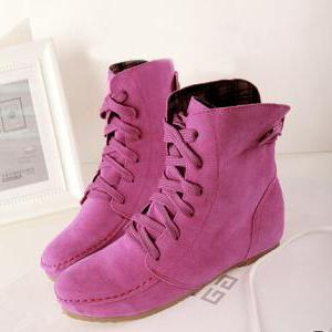 Candy-colored flat shoes fashion Knight boots ZX1014DI