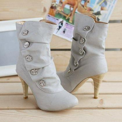 Fashion Round Rhinestone boots BT308941
