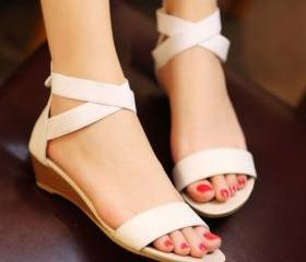 Contracted leather ladies' sandals