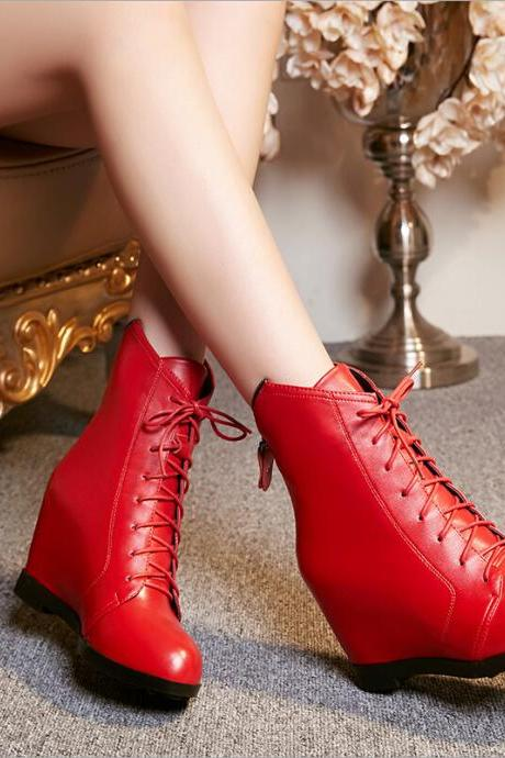 Fashion Solid color heeled boots 7206147