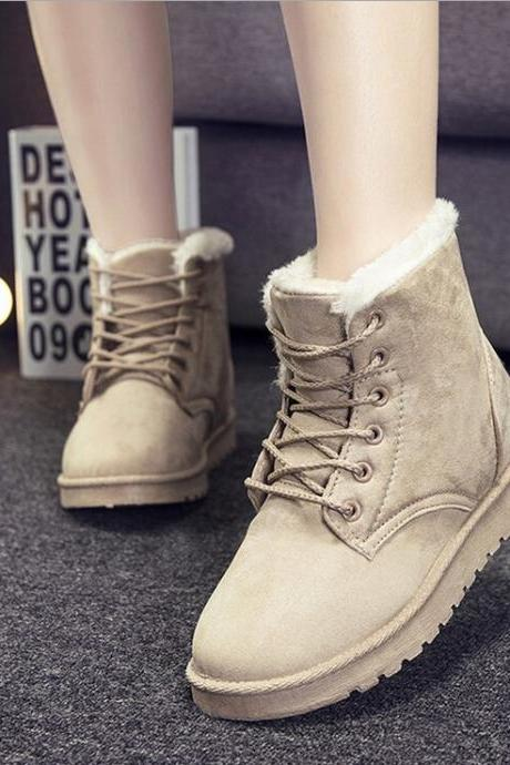 Fashion flat round snow boots cotton boots 3610971
