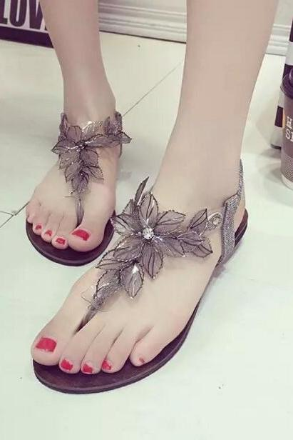 Flat casual sandals clip toe Beach sandals UO96281